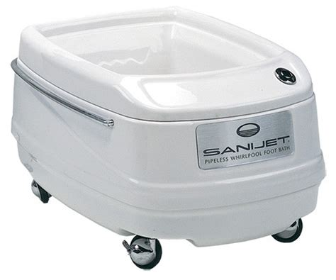 portable kitchen sinks sanijet pipeless foot bath aesthetic solutions inc 1610