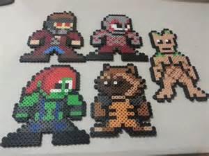 Guardians of the Galaxy Rocket Raccoon Perler Beads