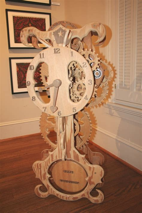 pdf diy wooden wall clock build wood clock diy pdf small woodworking projects for