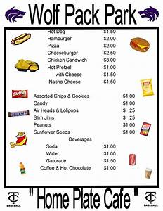 7 best images of baseball concession signs free printable for Concession stand menu template