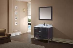 meuble de salle de bain en bois noble meubles et With porte d entrée pvc avec meuble salle de bain avec dessus marbre
