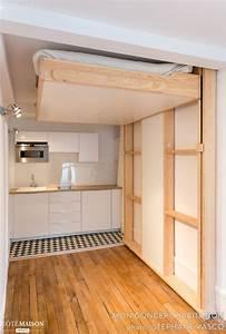 Lit Gain De Place Studio : un studio bien quip e et gain de place avec une petite ~ Premium-room.com Idées de Décoration