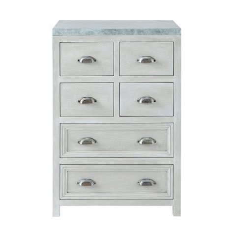 meuble cuisine 60 cm meuble bas de cuisine en bois d 39 acacia gris l 60 cm zinc
