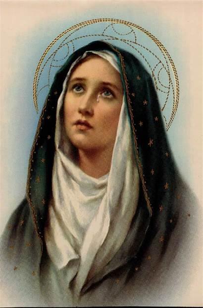 Mother Mary Sorrowful Catholic Sorrows Lady Heart