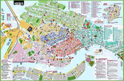 Carte Detaillee Des Monuments De by Carte Et Plan De Venise Tout Pour Organiser Au Mieux