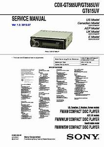 Sony Cdx-gt565uv  Cdx-gt615uv Service Manual