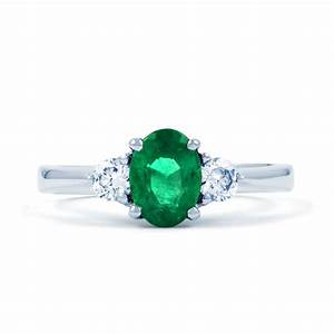 paragon 18ct white gold emerald and diamond engagement With emerald diamond wedding rings