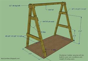 Diy Outdoor Swings Frames, A Fram Plans, A Frames For