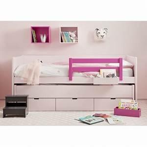 Lit En Hauteur Enfant : lit 2 en un avec tiroir de rangement bahia movil par asoral ~ Melissatoandfro.com Idées de Décoration