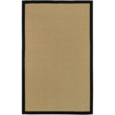 home depot sisal rug artistic weavers border town black sisal cotton 8 ft x 10