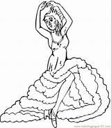 Coloring Flamenco Dancing Coloringpages101 sketch template
