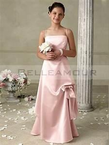 Robe De Demoiselle D Honneur Fille : robe de demoiselle d 39 honneur fille rose a ligne noeud ~ Mglfilm.com Idées de Décoration