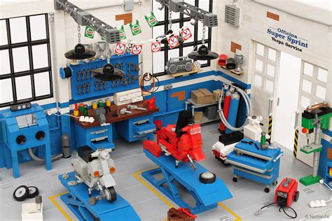 Lego Technic Garage by Come And Get Your Lego Vespa Fixed In This Garage