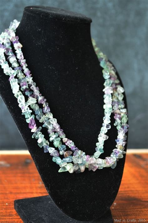 simple  strand necklace tutorial mad  crafts