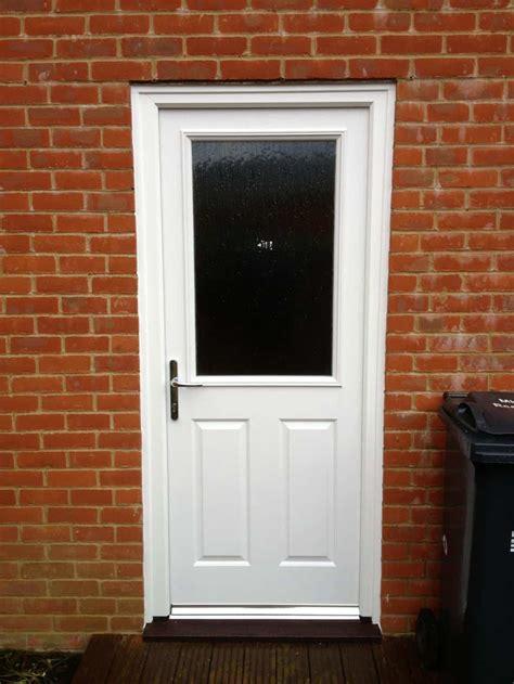white composite  door dorking glass
