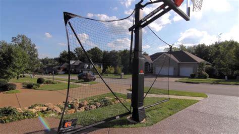 goalrilla basketball yard guard net system youtube