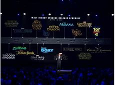 Disney announced all its movies coming in the next two