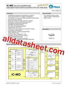 Icmd Datasheet(pdf)  Ichaus Gmbh