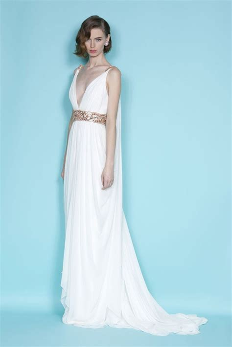 Lovely Greek wedding dress   #marchesa #fashion #dress