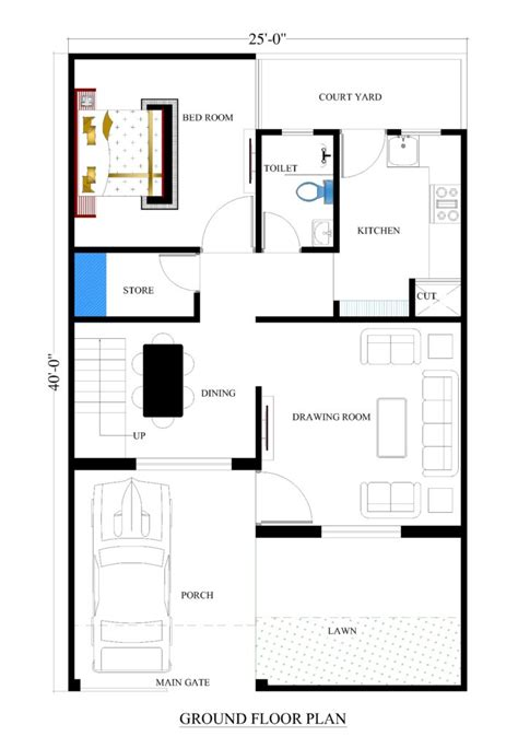 narrow house plan 25x40 house plans for your house house plans