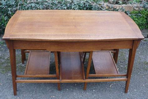 arts and crafts table ls arts and crafts nest of 3 tables in golden oak furniture