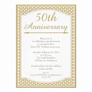50th wedding anniversary invitation 11 cm x 16 cm With 50th wedding anniversary invitation