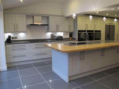 light grey shaker new kitchens