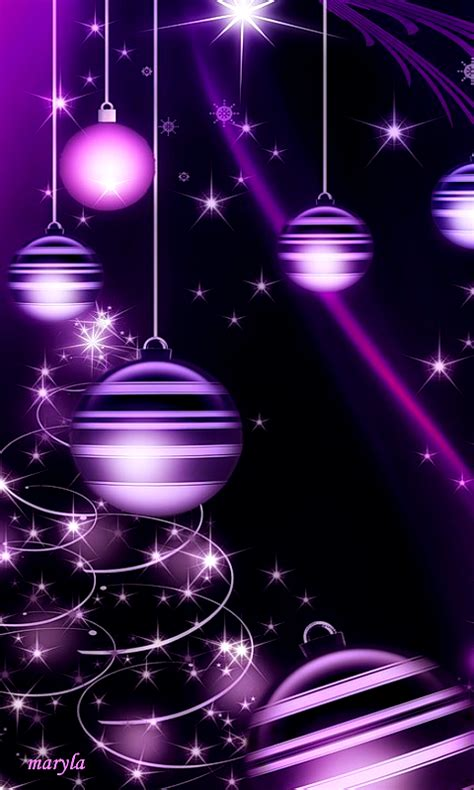 Purple Ornaments Wallpaper by Purple Sparkly Ornament Wallpaper Wallpapers
