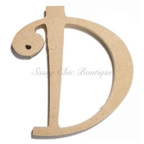 unfinished wooden uppercase letter  curlz font lettering wooden letters wooden
