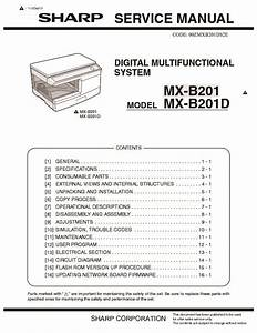 Sharp Mx-b201d  Serv Man9  Service Manual