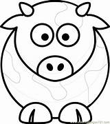 Coloring Pages Cow Face Cows Printable Head Animals Getcolorings Coloringpages101 Adults Sheep sketch template
