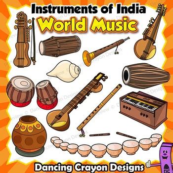 Musical instruments drawing musical instruments. Indian Instruments Clip Art   Musical Instruments of India ...