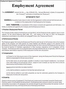 printable sample employment contract sample form laywers With terms of employment contract template