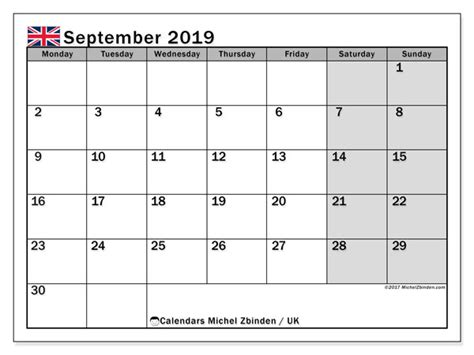 september  calendar uk michel zbinden en