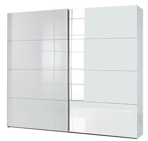 armoire chambre 2 portes armoire 2 portes coulissantes attimi blanc miroir