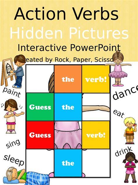 action verbs hidden pictures