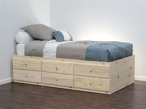 Bed With Drawers by Cabinet Craft Storage Bed With 6 Drawers