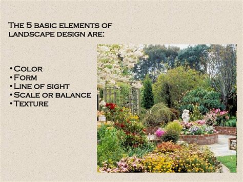 texture in landscape design landscape design and principles