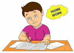 School : boy-tired-and-bored-of-homework-clipart-6212 ...