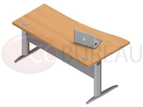 bureau vague pro métal 160 cm pieds en l