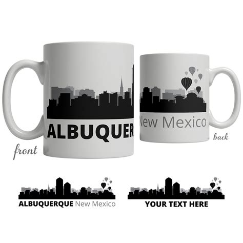 501 copper ave nw, albuquerque, nm 87102. Albuquerque, NM Skyline Coffee Mug