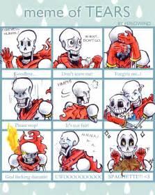 Undertale and Papyrus Sans Meme