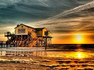 Beach Hostel St Peter Ording : die romantische strandbar 54 nord in st peter ording bei sonnenuntergang beaches and oceans ~ Bigdaddyawards.com Haus und Dekorationen