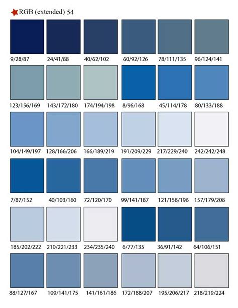 Different Shades of Blue Colors