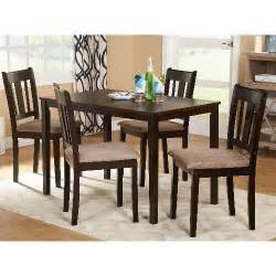 modern dining room set espresso 5 piece table and chairs