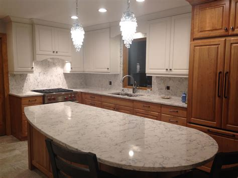 Kitchen Countertops With Backsplash by Quartz Backsplash My Kitchen Re Do Quartz Backsplash