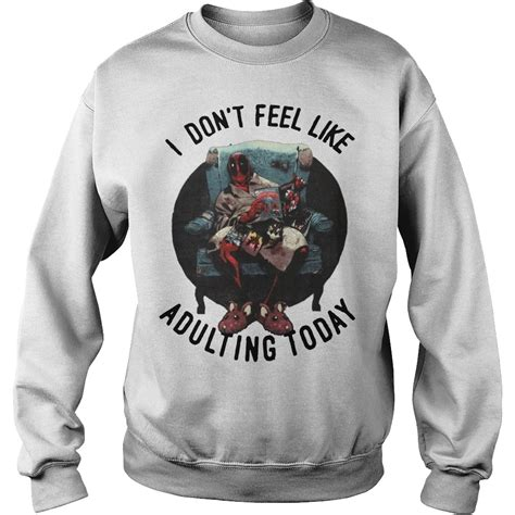 official deadpool i don t feel like adulting today shirt