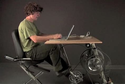 Pedal Powered Bike Desk That Charges You Laptop   The