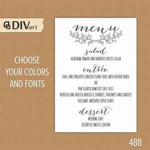 printable wedding menu rehearsal dinner menu reception With wedding rehearsal dinner menu ideas
