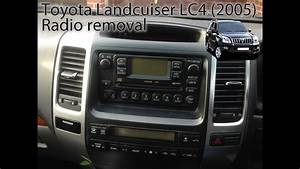 Toyota Land Cruiser  2003 To 2009  Radio Removal Lc3  Lc4